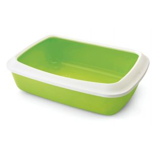 Bac-à-litière-avec-rebord-Iriz-42-Vert-et-blanc--