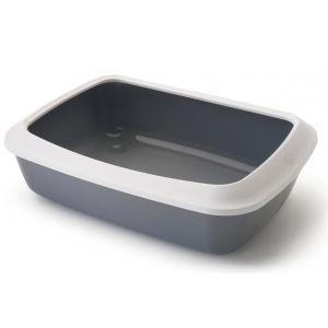 Bac-à-litière-avec-rebord-Iriz-50-Gris-et-blanc-