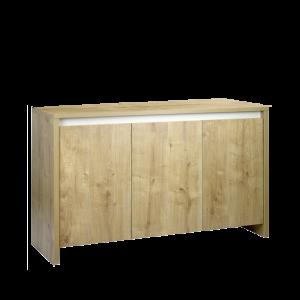 Meuble-ROMA-240-couleur-chêne-avec-bandeau-blanc