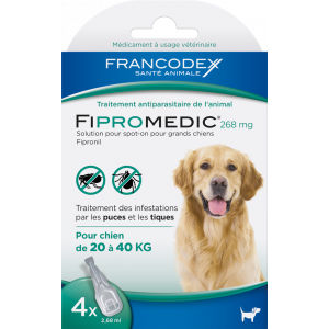 Fipromedic-268Mg-Spot-On-Chien-20-40Kg---4-Pipettes