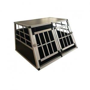 Cage-Transport-Chien-Double-Aluminium-Small