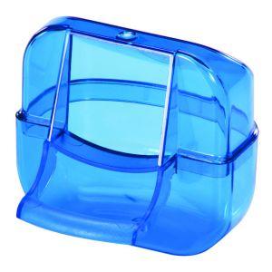 Mangeoire-Luxe-Transparente-Bleu
