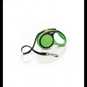 Laisse-Flexi-New-Comfort-Sangle-XS-Vert-3-Mètres