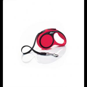 Laisse-Flexi-New-Comfort-Sangle-XS-Rouge-3-Mètres