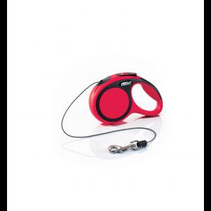 Laisse-Flexi-New-Comfort-Cordon-XS-Rouge-3-Mètres