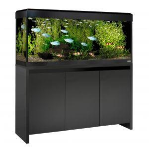 Kit-ROMA-240-meuble-satiné-noir-avec-bandeau-laqué-noir