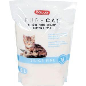 Litière-Fine-Pure-Cat-Silice-Nature-Chaton