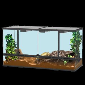 Terrarium-118x45x60-Noir---Aquatlantis