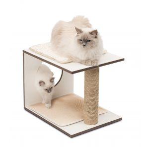 Arbre à chat Vesper V-Stool Naturel Blanc