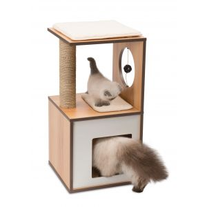 Arbre à chat Vesper V-Box Small Naturel