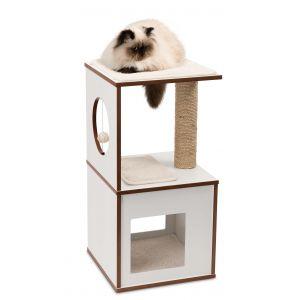 Arbre à chat Vesper V-Box Small Blanc