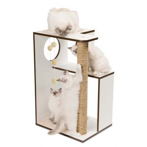 Arbre-à-chat-Vesper-V-Box-Large-Blanc