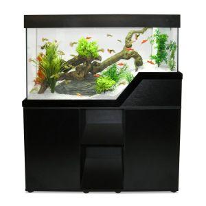 Aquarium poisson Caraïbes 102 cm noir - Capac avec meuble