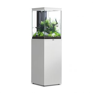 Aquarium poisson avec meuble Aqua Tower 96 blanc - Aquatlantis