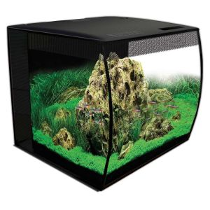 Aquarium poisson Flex 15 57 litres noir avec éclairage à LED et télécommande - Fluval