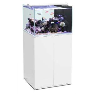 Aquarium-Eau-de-Mer-+-Meuble-Ultra-Clear-SW-100-Blanc