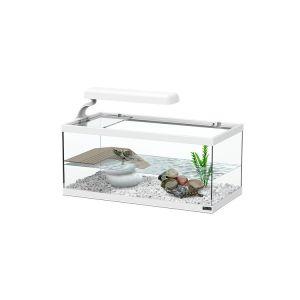 Aquarium pour tortue Aqua Tortum 40 blanc - Aquatlantis avec lampe Easy Led Tortum 6W