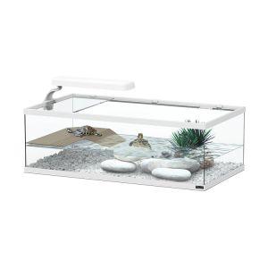 Aquaterrarium pour tortues aquatiques Aqua Tortum 55cm Blanc - Aquatlantis