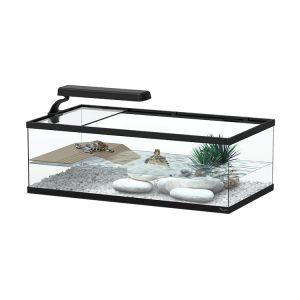 Aquarium pour tortue Aqua Tortum 55 noir - Aquatlantis