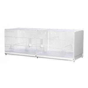 Cage d'élevage 120 cm cortina blanche pour oiseaux 2gr
