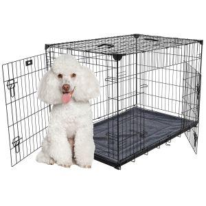 Cage-grillagée-d'intérieur-chien-avec-bac-de-récupération-S/M-76-x-53-x-61-cm-Lucky-Dog-suggestion-de-présentation