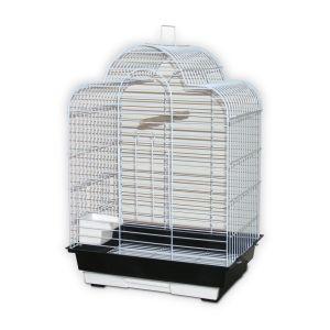 Cage-grillagée-oiseaux-Icare-blanche-46,5x36x65-cm
