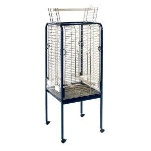 Cage perroquets Sara C-1 toit plat Coloris bleu et or