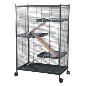 Cage-rongeur-Indoor-Maxi-Loft-2-rose-profil