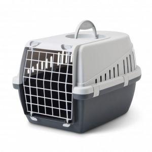 Panier-de-transport-chien-et-chat-Trotter-1-gris-et-anthracite---Savic