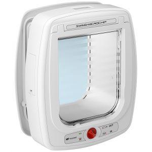 chatiere-electronique-avec-detecteur-swing-microchip-large-blanche-ferplast