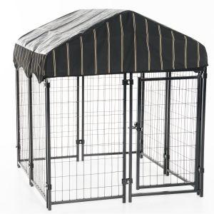 Chenil-et-box-de-détente-chien-carré-120-x-120-x-132-cm-Lucky-Dog