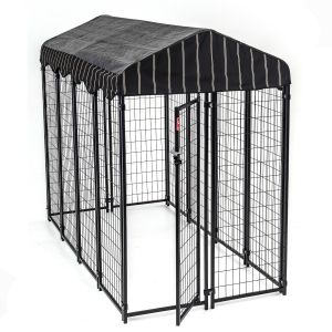 Chenil-et-box-de-détente-chien-rectangle-240-x-120-x-180-cm-Lucky-Dog