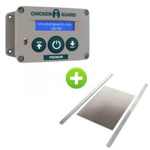 Portier ChickenGuard Premium et trappe poulailler aluminium Large