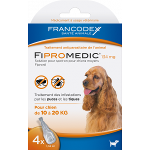 Fipromedic-134Mg-Spot-On-Chien-10-20Kg---4-Pipettes