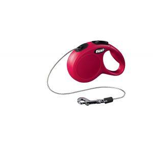 Laisse-Flexi-Chat-Cordon-XS-Rouge-3-Mètres