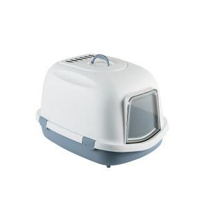 Maison-de-toilette-chat-Super-Queen-XXL-bleu-acier---Zolux