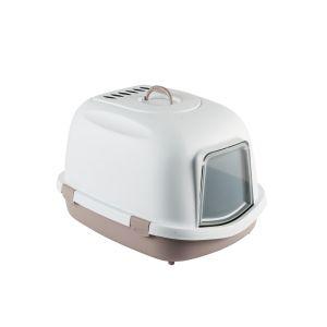 Maison-de-toilette-chat-Super-Queen-XXL-gris-rosé---Zolux
