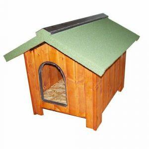 niche-pour-chien-bois-epais-europa-60-toit-vert-taille-xxs
