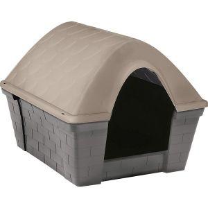 Niche pour chien plastique Casa Felice gris et taupe taille S - Zolux