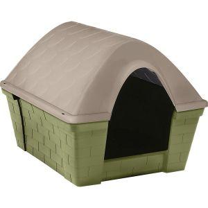 Niche pour chien plastique Casa Felice vert et taupe taille S - Zolux