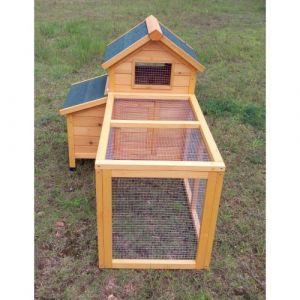 Poulailler Bantam L 1 à 2 poules toit shingle avec extension parc grillagé