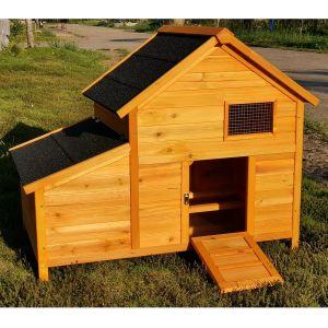 Poulailler Bantam XL toit shingle noir 1 À 2 poules vue profil