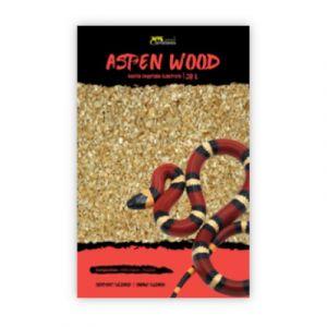 Substrat végétal pour terrarium reptile écorce de peuplier Aspen Wood taille L 20L - Terratlantis