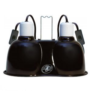 Support de lampe reptile double mini dôme profond Mini Combo Deep Dome 2X100W - Zoo Med