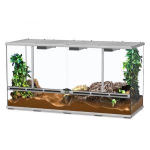 Terrarium reptile 118x45x60 gris - Aquatlantis