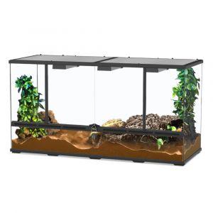 Terrarium reptile 118x45x60 noir - Aquatlantis