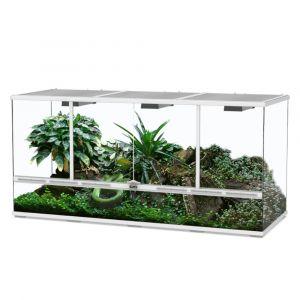 Terrarium reptile 132x45x60 blanc - Aquatlantis