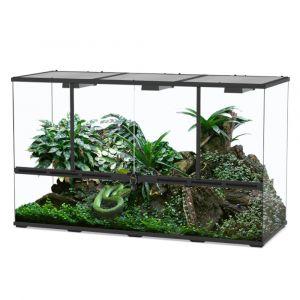 Terrarium reptile 132x45x75 noir - Aquatlantis