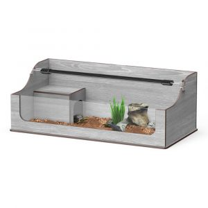 Terrarium-tortues-Terra-Tortum-75-frêne-gris-avec-rampe-à-LED-en-option