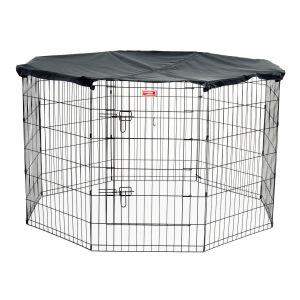 Aire-d'exercice-couverte-chien-8-panneaux-grillagés-183-x-92-cm-Lucky-Dog